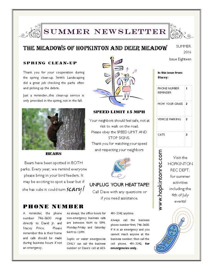 Newsletter MOH DM 062416